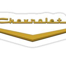 1957 Chevrolet Hood Script Sticker