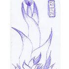 Floral Robot Ink Sketch by George Barwick