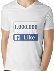 Facebook 1 Million Likes, Friends and Views Mens V-Neck T-Shirt
