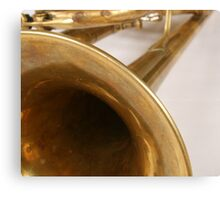 Brass Trumpet Bell and Tubing Canvas Print