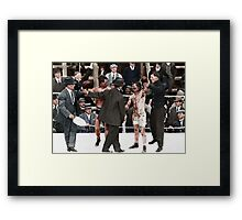 Ray Campbell vs Dick Hyland 3rd May, 1913 Framed Print