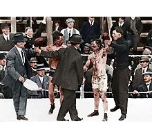 Ray Campbell vs Dick Hyland 3rd May, 1913 Photographic Print