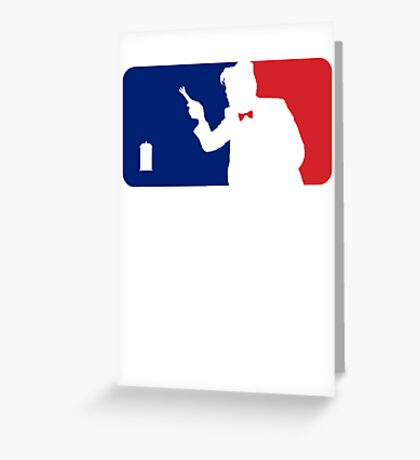 Major League Time Lord Greeting Card