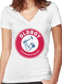 Old Boy Women's Fitted V-Neck T-Shirt