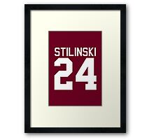 Stiles Stilinski's Jersey - white text Framed Print