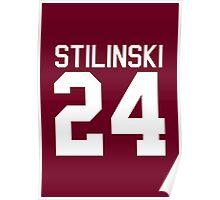 Stiles Stilinski's Jersey - white text Poster