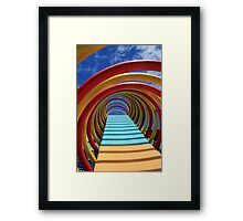 Round Colored Equipment Framed Print