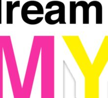 I dream in CMYK Sticker