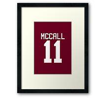 Scott McCall's Jersey - white text Framed Print