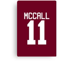 Scott McCall's Jersey - white text Canvas Print