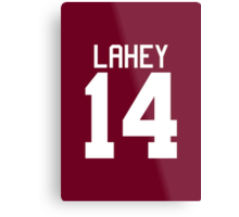 Isaac Lahey Jersey - white text Metal Print