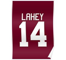 Isaac Lahey Jersey - white text Poster