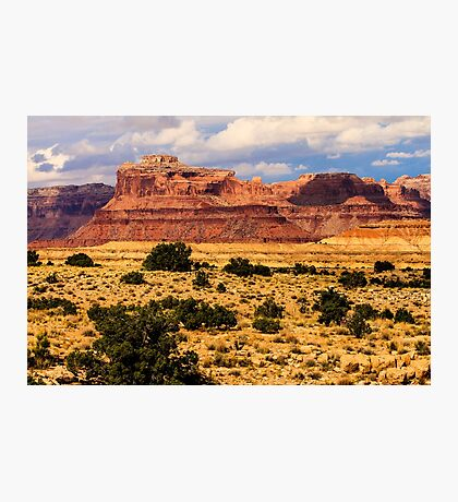 Colorado Butte and Clearing Storm Photographic Print