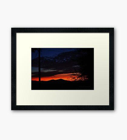 Autumnal Sunset Framed Print