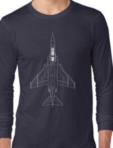McDonnell Douglas F-4 Phantom II Blueprint Long Sleeve T-Shirt