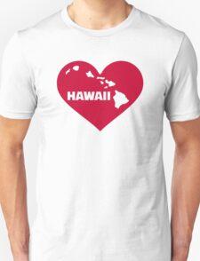 Hawaii red heart Unisex T-Shirt