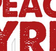 #PEACE4SYRIA Sticker