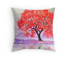 Blossoms Reflect Throw Pillow