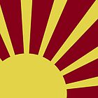 Sunburst (Yellow on Red) by Peter Fedewa