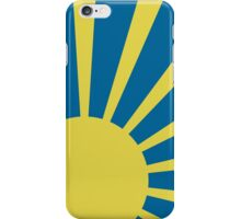 Sunburst (Yellow on Blue) iPhone Case/Skin