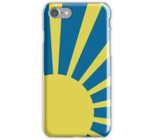 Sunburst (Yellow on Blue) iPhone Case/Skin