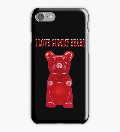 (✿◠‿◠) I LOVE GUMMY BEARS TEE SHIRT & VARIOUS-- APPAREL (✿◠‿◠) iPhone Case/Skin