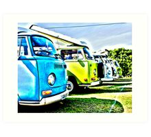 Classic VW campers (HDR) Art Print