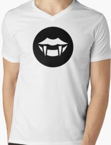 Vampire Fangs Ideology Mens V-Neck T-Shirt