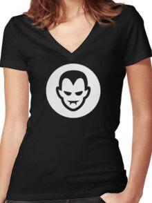 Vampire Halloween Ideology Women's Fitted V-Neck T-Shirt