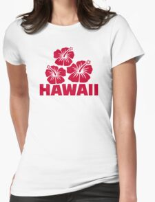 Hawaii hibiscus Womens Fitted T-Shirt