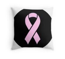 Breast Cancer Awareness Pink Throw Pillow
