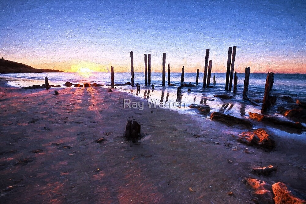 Port willunga sunset eh1 by ray warren redbubble for Port willunga