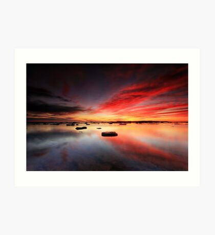 Long Reef Reflections Art Print