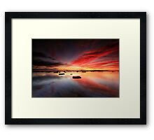 Long Reef Reflections Framed Print