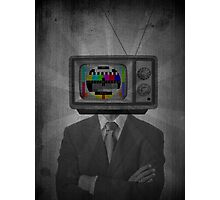 TV Man Photographic Print