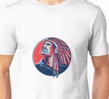 Native American Indian Chief Retro Unisex T-Shirt