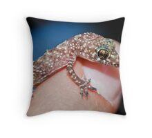 Tiny Gecko Throw Pillow