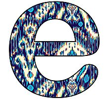 Letter Series - e (ikat) Photographic Print