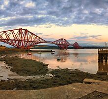 Forth Rail Bridge Sunset by Miles Gray