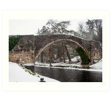 Brig O'Doon in Winter Art Print