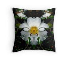 White Flower Fantasy Throw Pillow