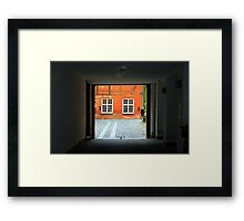 Tranquil Courtyard Framed Print