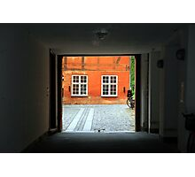 Tranquil Courtyard Photographic Print