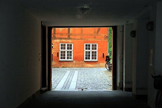 Tranquil Courtyard by John Dalkin