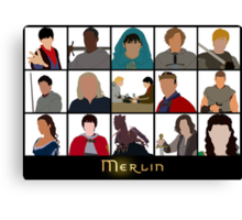 Characters Of Merlin Canvas Print