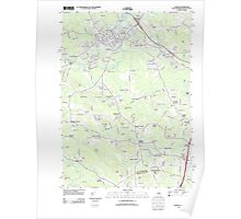 USGS TOPO Map New Hampshire NH Exeter 20120718 TM Poster