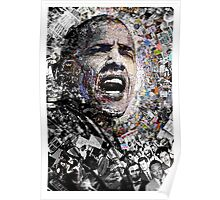 """""""I Am Not A Perfect Man"""", Obama Civil Rights and Protest Collage Poster"""