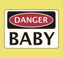 DANGER BABY, FUNNY FAKE SAFETY SIGN Kids Clothes