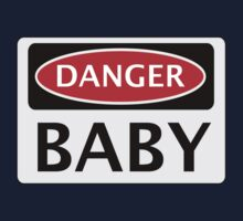 DANGER BABY, FUNNY FAKE SAFETY SIGN One Piece - Long Sleeve