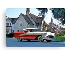 1956 Oldsmobile Two-Door Hardtop Canvas Print